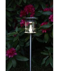 Silver-tone solar path light 64.5cm