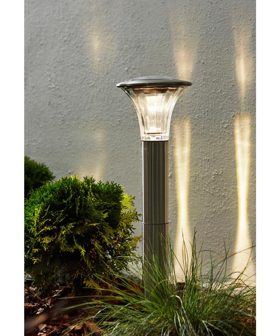 Silver-tone solar path light 51cm Sale - solar lighting