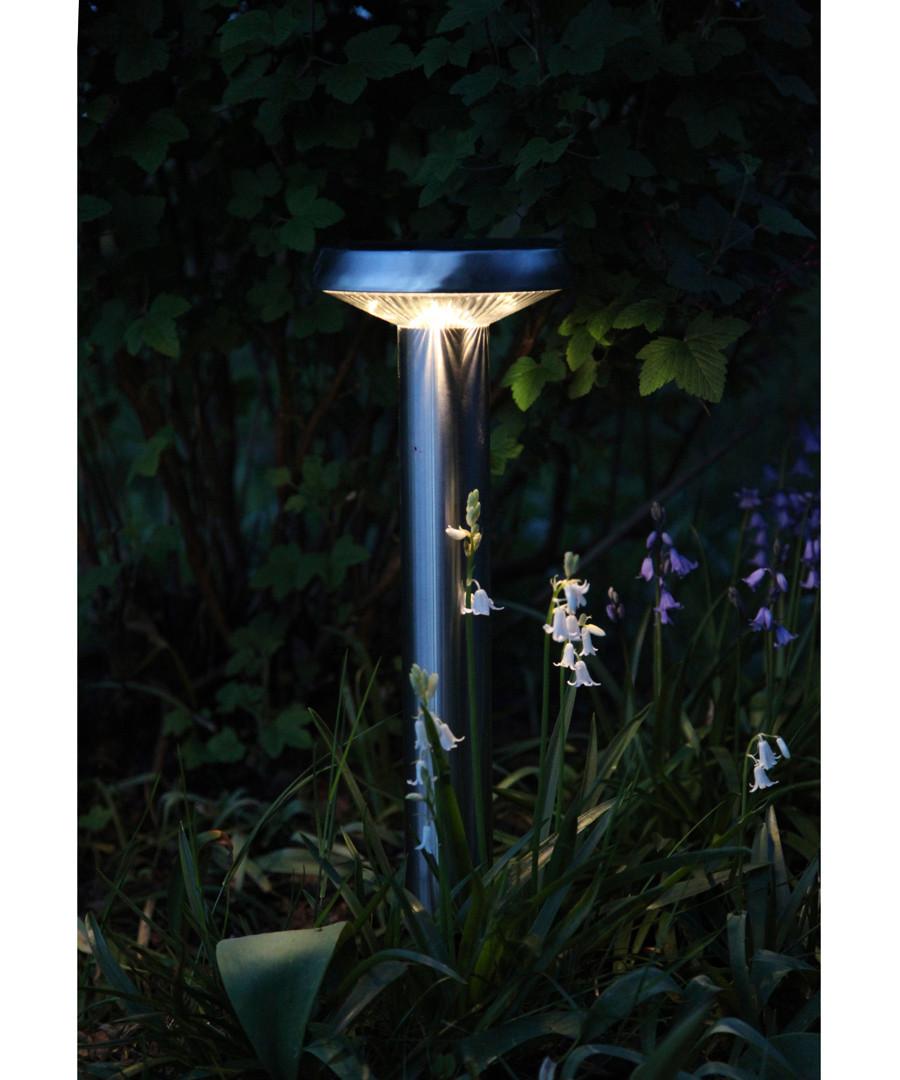 Silver-tone solar flat path light 45cm Sale - solar lighting