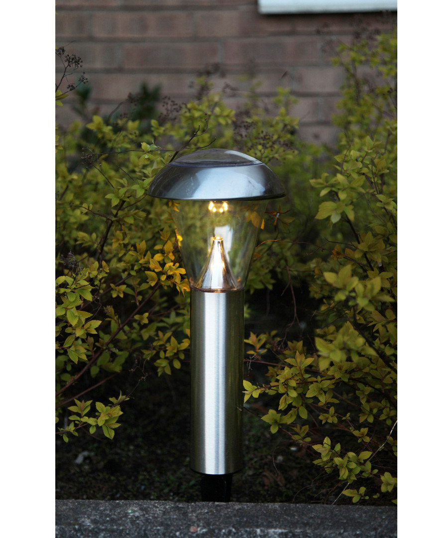 Silver-tone solar path light 36cm Sale - solar lighting