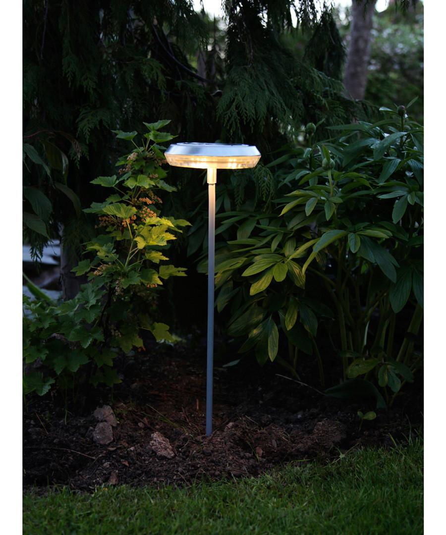 White solar flat path light 51cm Sale - solar lighting