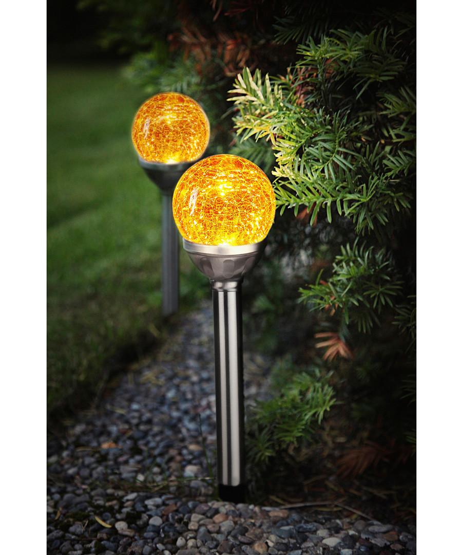 2pc Solar crush path lights 28.5cm Sale - solar lighting