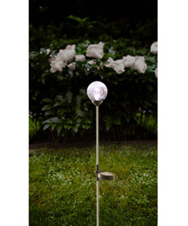 Roma glass bauble solar path light