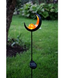 Amber glass bauble solar light 85cm