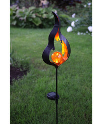 Melilla flame amber solar light 85cm