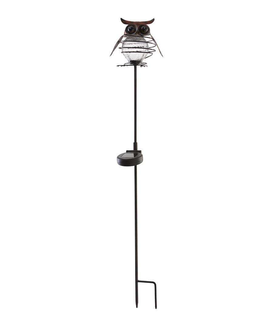 Sicily metal owl & glass bauble 80cm Sale - solar lighting