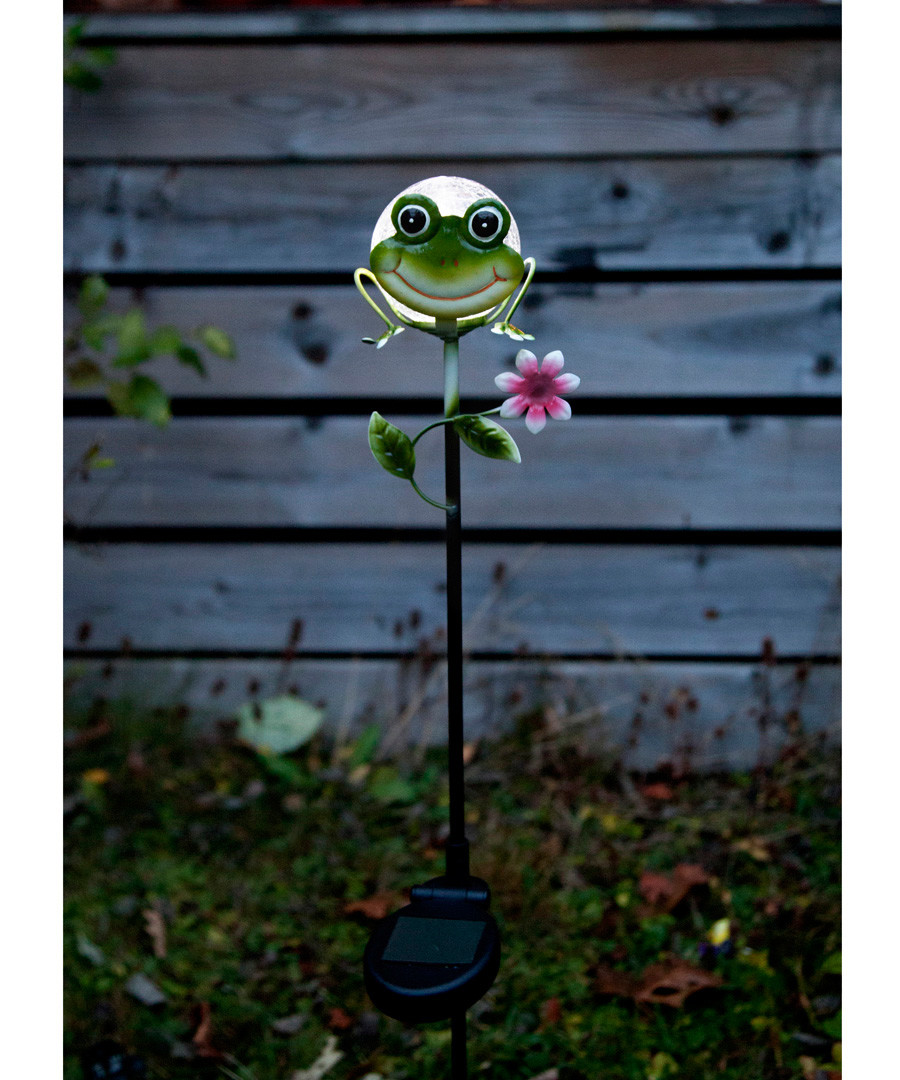 Sicily metal frog decoration 83cm Sale - solar lighting