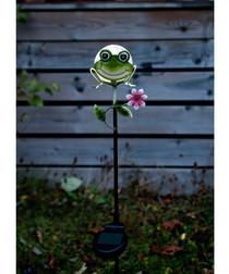 Sicily metal frog decoration 83cm
