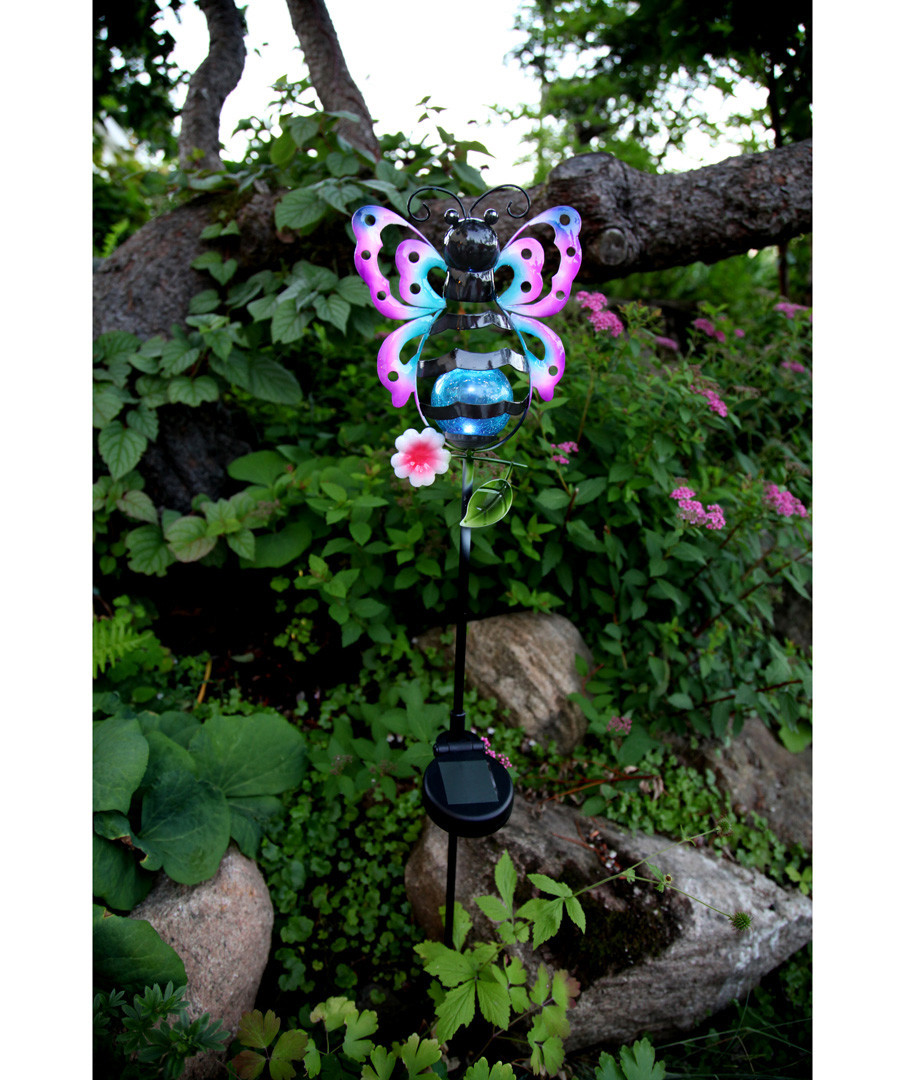 Sicily metal butterfly & glass bauble Sale - solar lighting
