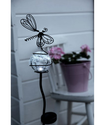 butterfly & glass ball solar lamp 85cm
