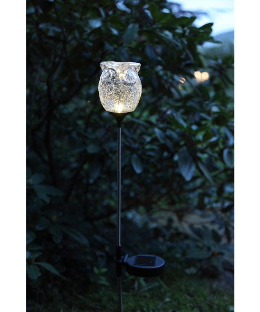glass owl solar lamp Sale - solar lighting