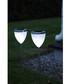 2pc solar energy chrome path lights Sale - solar lighting Sale