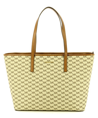 d27a15c30fd574 Emry brown & white leather shoulder bag Sale - Michael Kors Sale