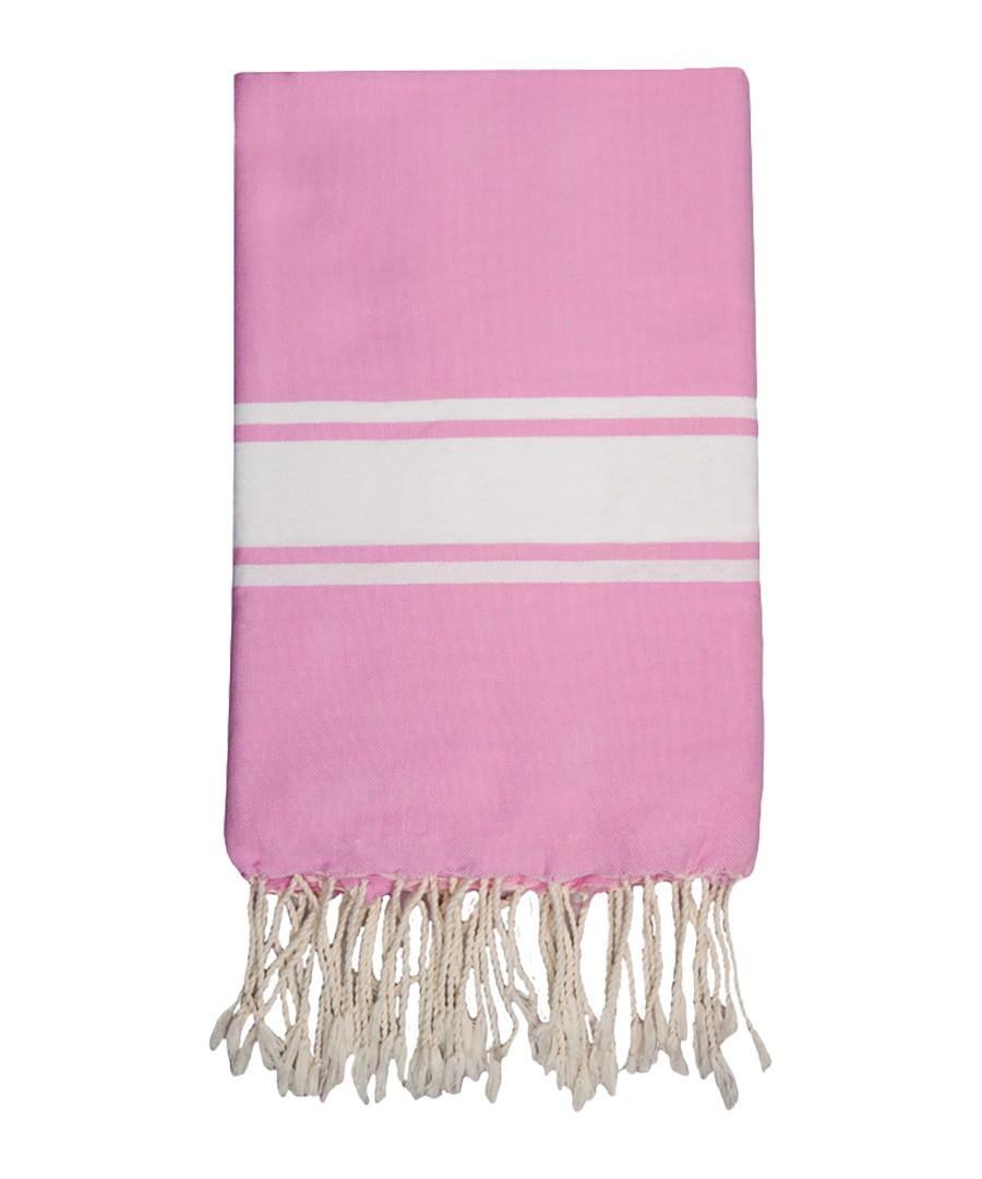 St Tropez pale pink cotton fouta towel Sale - FEBRONIE