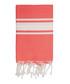 St Tropez coral cotton fouta towel Sale - FEBRONIE Sale