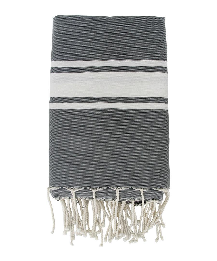 St Tropez grey cotton fouta towel Sale - FEBRONIE