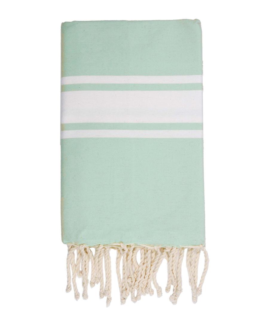 St Tropez mint striped fouta towel Sale - FEBRONIE