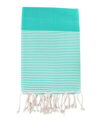 Honeycomb Ibiza green cotton fouta towel