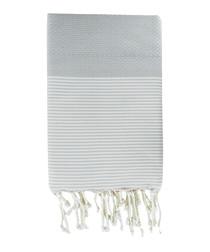 Honeycomb Ibiza pearl grey fouta towel