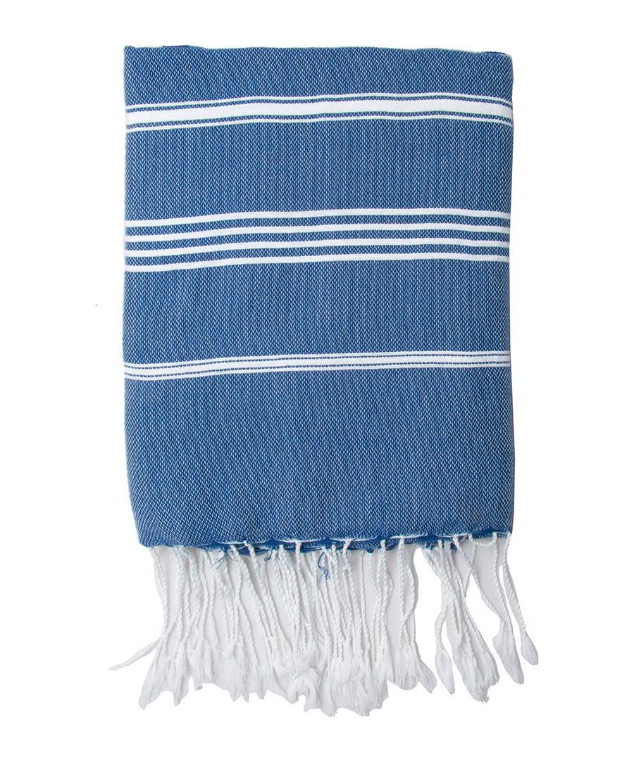 Mykonos blue cotton fouta towel Sale - FEBRONIE