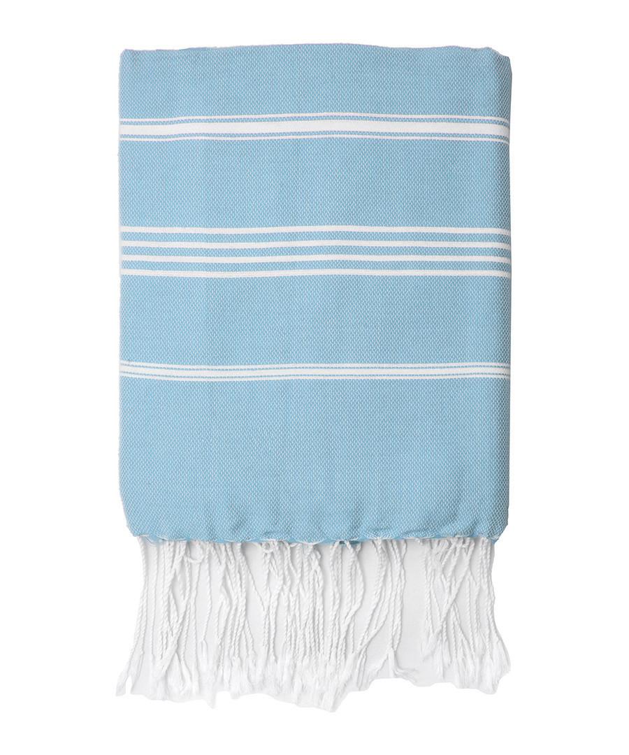 Mykonos pale blue cotton fouta towel Sale - FEBRONIE