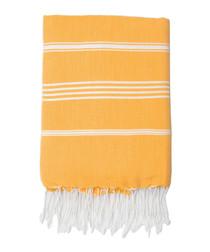 Mykonos yellow cotton fouta towel