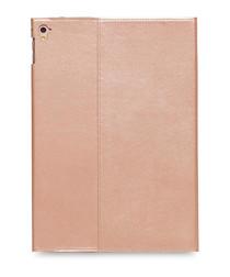 Rose gold-tone leather iPad case
