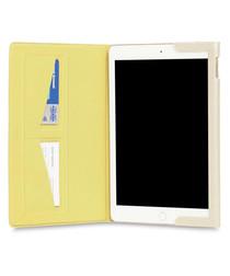 Gold-tone leather iPad case