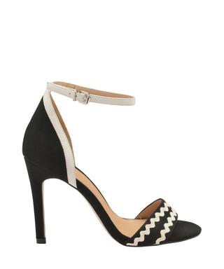 af51ba3fb Berkley black   white suede heels Sale - Ravel Sale
