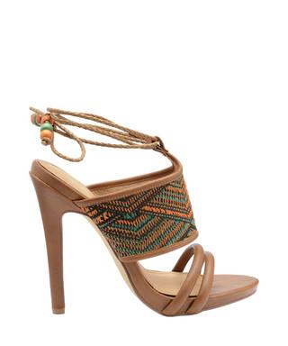 b2e8ae56b Chelan brown   orange leather heels Sale - Ravel Sale