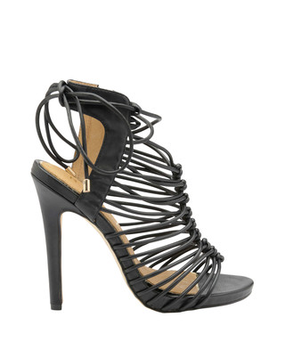 938eed88b01a Maryhill black leather laced heels Sale - Ravel Sale