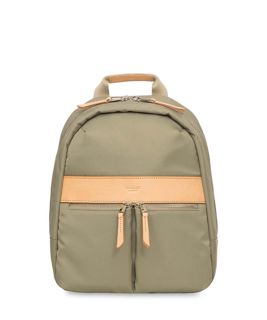 Mini Beachamp olive laptop backpack Sale - knomo