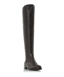 Taylor brown leather over-the-knee boots