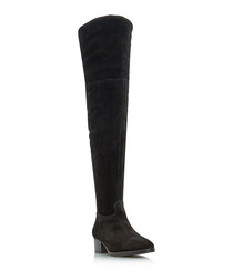 Tangent black suede over-the-knee boots