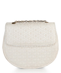 Miami cream saddle cross body