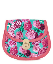 Monaco coral & green floral cross body