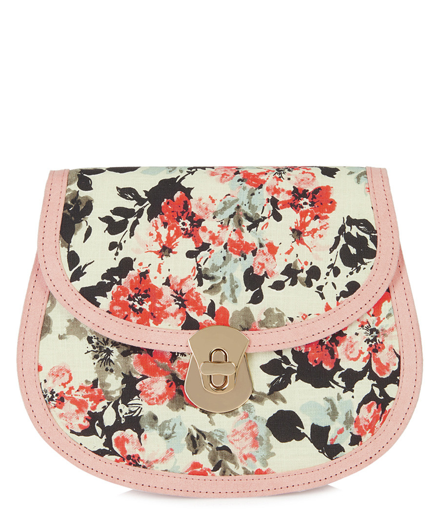 Monoaco pink & cream floral cross body bag Sale - ruby shoo