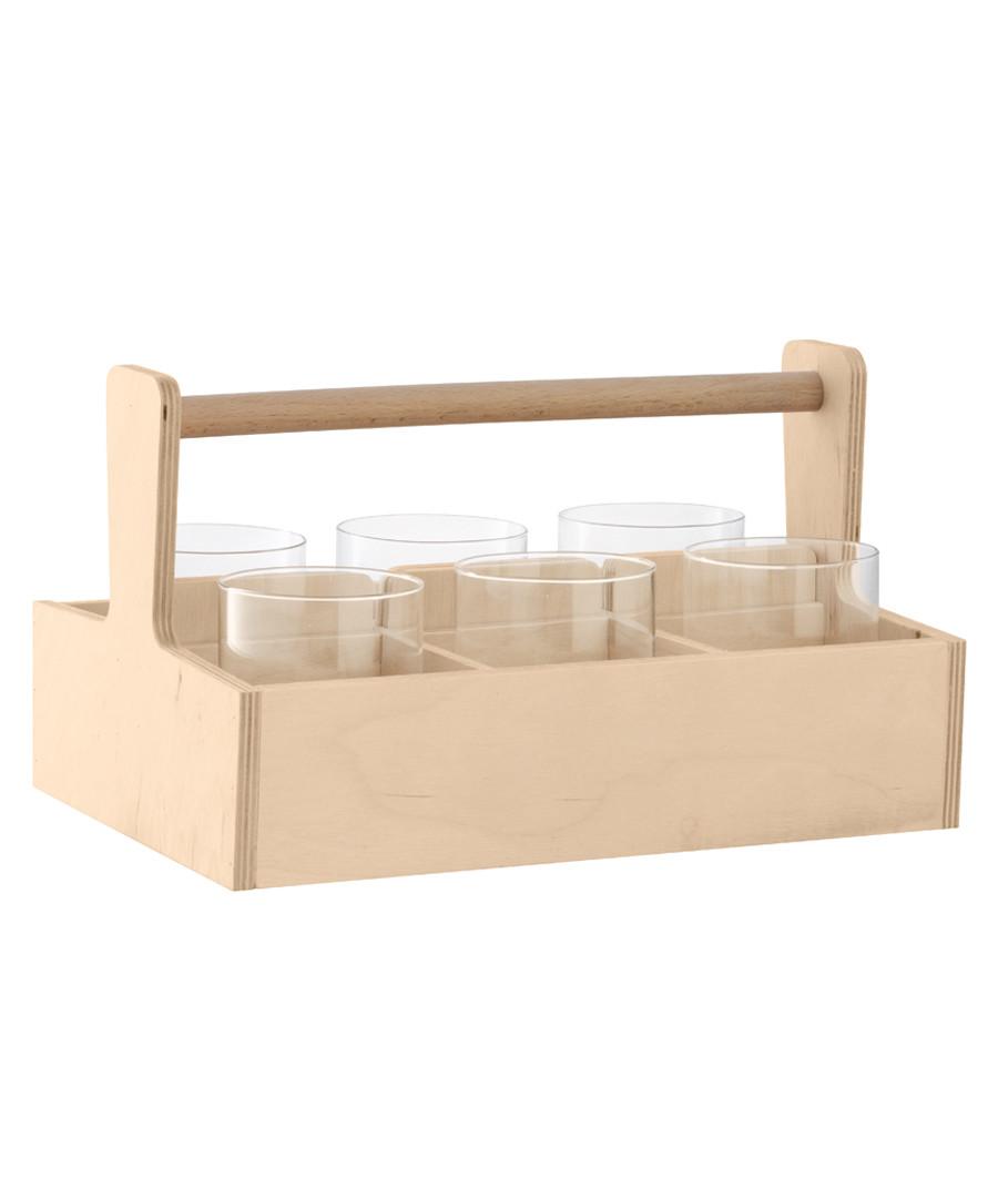 6pc Nomad glass & birch tumbler set Sale - lsa