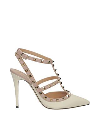 900467b7c4b1 Rockstud ivory leather heels Sale - VALENTINO Sale