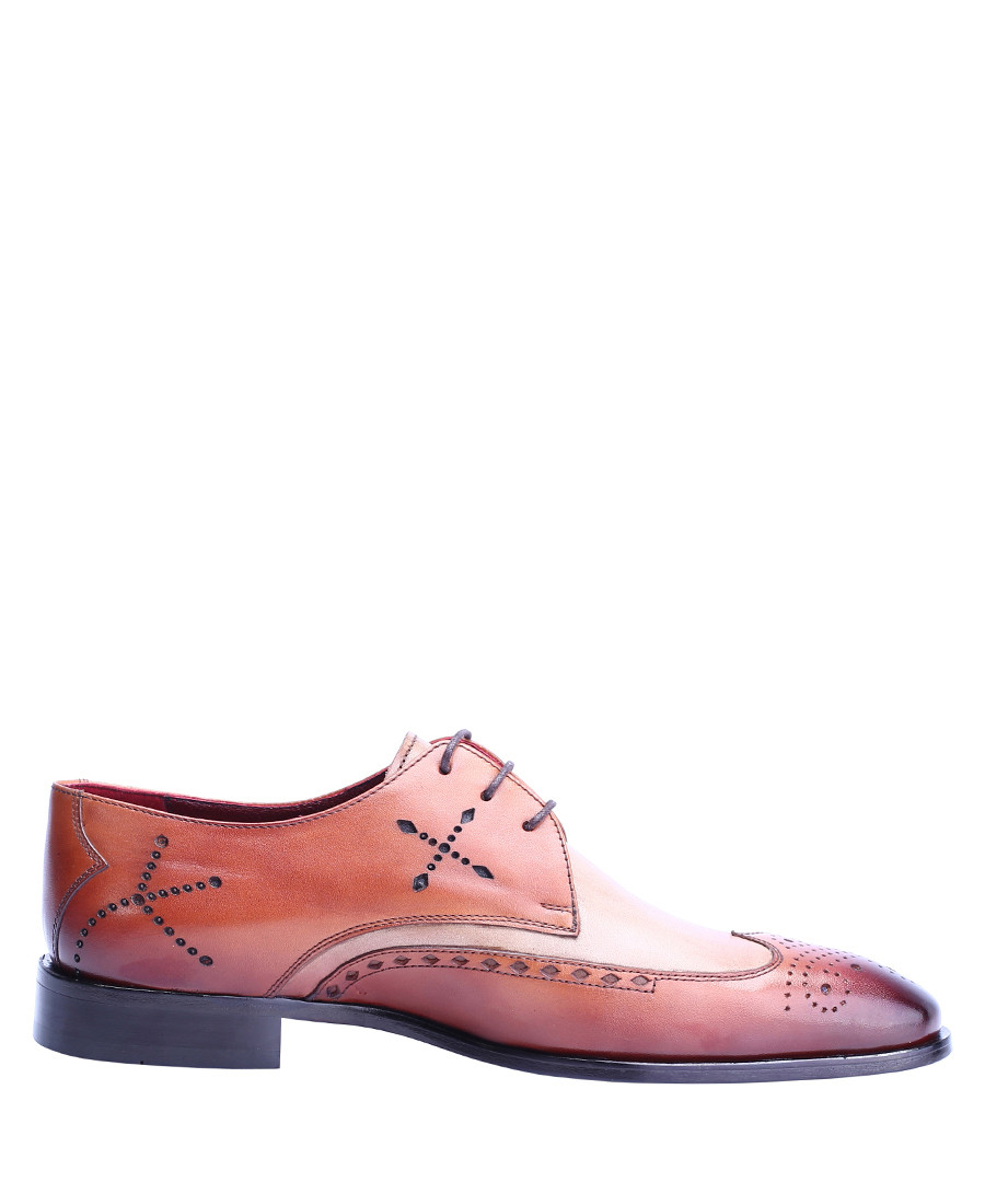 Antique brown leather lace-up shoes Sale - deckard