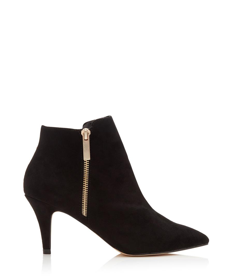 Sphinx black suede heel ankle boots Sale - CARVELA