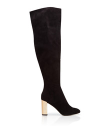 Harrie black suede over-the-knee boots