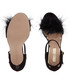 Sasha black suede furry sandal heels Sale - Miss KG Sale
