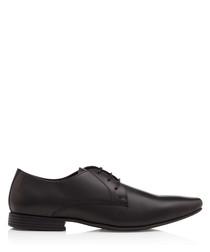 Kendal black leather Derby shoes