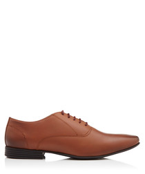 Kenworth tan leather Oxford shoes