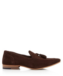Denton brown suede loafers