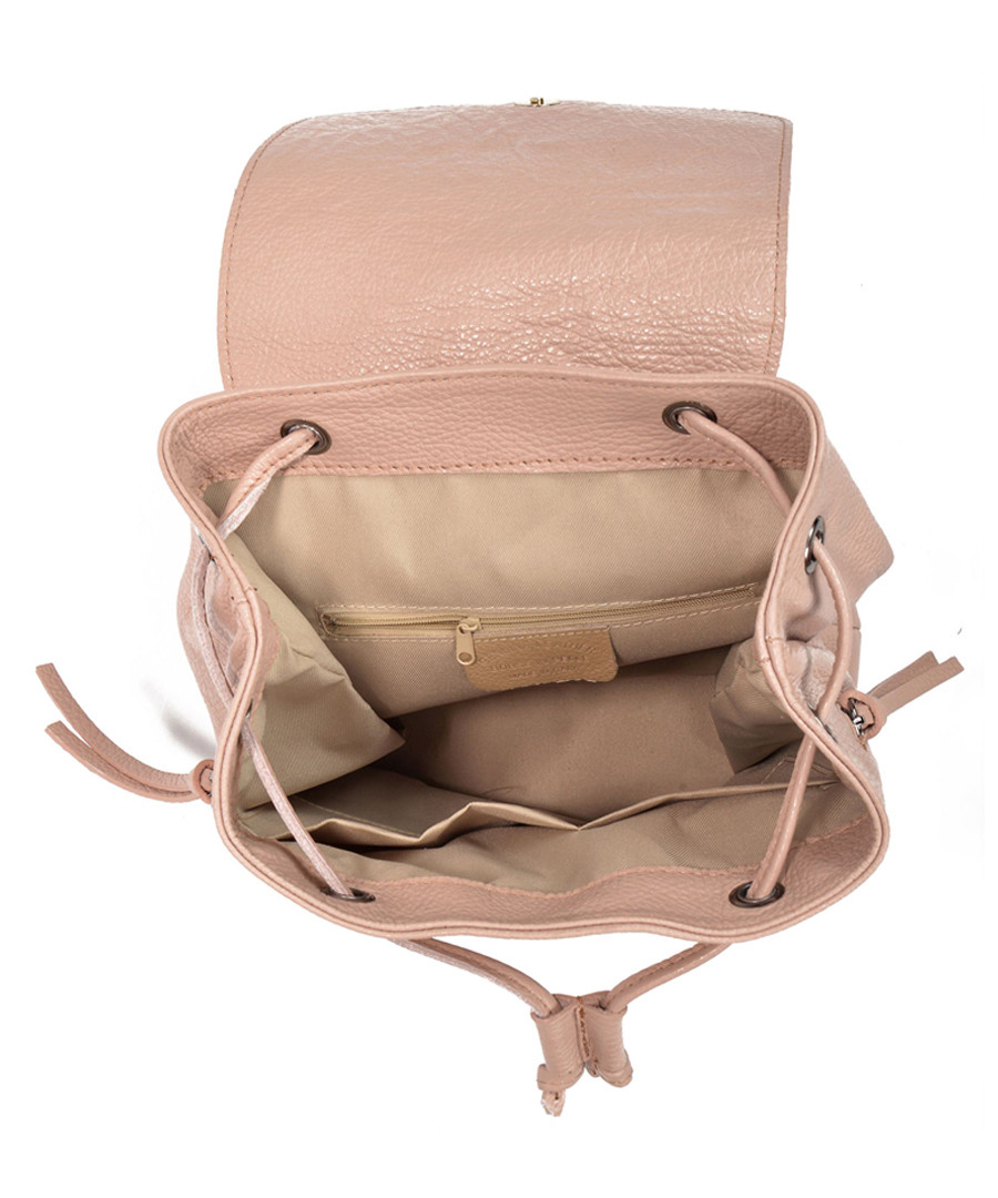 Pink Leather Drawstring Backpack- Fenix Toulouse Handball 329793c6fbb9a
