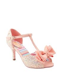 Sugar & Spice baby pink T bar heels