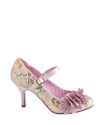 Ginnie pink floral Mary Jane shoes
