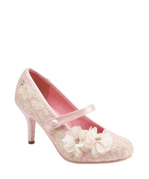Louisa soft pink Mary Jane shoes